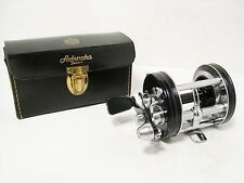 Vintage Abu 6000C Ambassadeur Multiplier Fishing Reel - Leather Case & Parts Etc