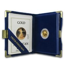 1990-P 1/10 oz Proof Gold American Eagle Coin - Box and Certificate - SKU #4923