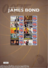 CSS-017 - 50 Years of James Bond Movies Commemorative Stamp Sheet