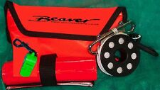 Beaver SCUBA reel & dSMB plus whistle compact set fits with line into SMB pouch