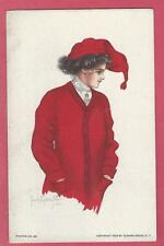 Postcard Girl Red College Sweater A/S Pearle Fidler Poster 42 Harvard/Maryland??