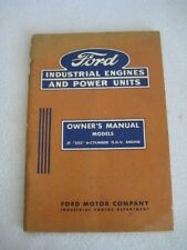 1955 Original Owners Manual for Ford Industrial Engines & Power Units IE-7556