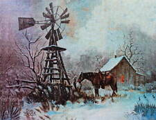 Old Windmill Cacin Horse in Cold Winter by Bob Taylor