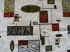 """50s /60s STYLE FABRIC BELDECOR """"MONTREAL"""" BNWOT CURTAINS OR UPHOLSTERY 120 INCHE"""