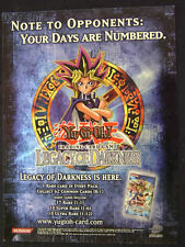 "Yu Gi Oh TCG Promotional Poster Legacy Of Darkness 24""x18"""