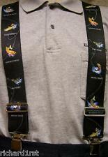 "Suspenders 2""x48"" FULLY Elastic fish Assorted Trout NEW"