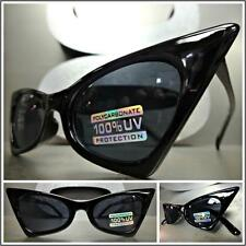 CLASSIC VINTAGE 60's RETRO CAT EYE Style SUN GLASSES Small Black Fashion Frame