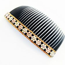 USA SELLER Hair Comb Rhinestone Crystal Party Fashion Simple AB Brown Yellow