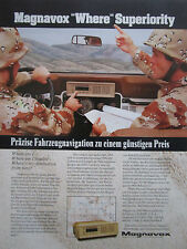 2/1985 PUB MAGNAVOX MX 6102 LAND NAVIGATION SYSTEM JEEP ORIGINAL GERMAN AD
