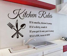 Removable DIY Kitchen Words Wall Stickers Decal Home Decor Vinyl Art Mural