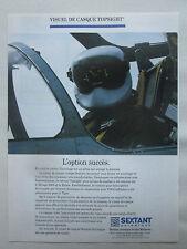4/95 PUB SEXTANT AVIONIQUE HELMET VISUEL CASQUE TOPSIGHT MRAGE RAFALE FRENCH AD