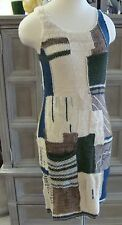 new SLEEPING ON SNOW anthropologie patchwork variations sweater dress XS S
