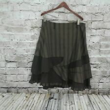 Made in France Skirt Unique Steam Punk Layered Ruffles Fit and Flare Style  8