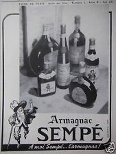 PUBLICITÉ 1948 ARMAGNAC SEMPÉ FOIRE DE PARIS - ADVERTISING