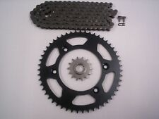 "SUZUKI DRZ125L 16"" REAR WHEEL ONLY NEW SPROCKET & CHAIN SET 14/57  03 -15"