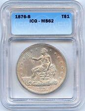 1876 S Trade Dollar. ICG Graded MS 62. Lot #2261