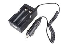 Output 4.2V Battery Charger for 2pcs 18650 + 12V Car Charger Adapter  Tool