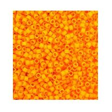 Delica Duracoat Seed Beads Opaque Mango (DB2104) #11 7.5 grams