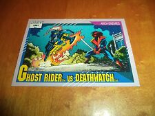 Ghost Rider vs. Deathwatch 109 1991 Marvel Universe Series 2 Impel Base Card