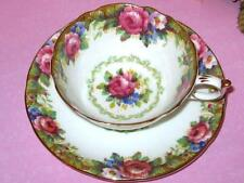 Vintage PARAGON PINK ROSE SWAG BONE CHINA Tea Cup & Saucer