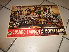 FOTOBUSTA 1952 QUANDO I MONDI SI SCONTRANO WHEN WORLDS COLLIDE SCI FI