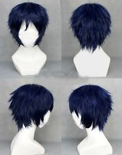 Dark Blue Ao no Exorcist -Okumura Rin  Short layered Anime Cosplay Wig