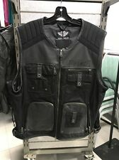 Harley-Davidson Mens 2XL  Leather Vest. 97078-16VM