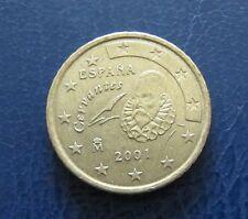 Spanien 2001 50 Cent Euro Münze aus Umlauf Sammlerstück