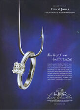"Leo Schachter Diamond ""Ernest Jones"" Clothing 2004 Magazine Advert #1861"