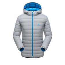 Fashion Mens Lightweight Puffer Duck Down Parka Jacket Hooded Parka Zip Outwear