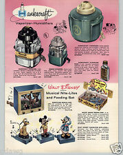 1959 PAPER AD Walt Disney Pluto Donald Duck Mickey Mouse Nite Lite Night Light
