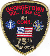 Georgetown Vol. Fie Co. 75th Anniversary Connecticut patch NEW!