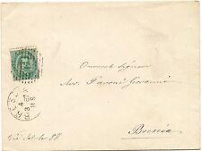 P5517   Brescia, annullo numerale a sbarre 1887