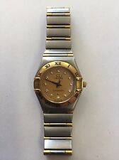 OMEGA Constellation 18K & SS Diamond Watch 6553/865