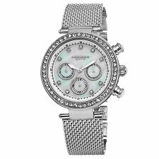 Women's Akribos XXIV AK682SS Multifunction Mother of Pearl Silver-tone Watch