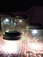 8 NEW SOLAR LED LIDS, Light REDNECK WINE GLASSES, FRUIT JARS,MASON JARS Crafts