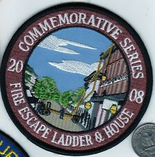 PATCH 2008 Commemorative FIRE ESCAPE LADDER & HOUSE RESCUE FIREMAN
