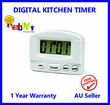 Magnetic LCD Digital Kitchen Timer Count Down Egg Cooking Alarm + Clock