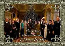 Downton Abbey personalised A5 Christmas card mum nanna grandma daughter name