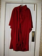 Gorgeous Red 100% Wool Wrap Cloak Cape with Scarf by Gemini, One Size
