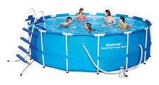 "Bestway 15' x 48"" Steel Pro Frame Pool Complete Set with Filter Pump & More"