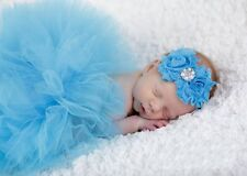 Newborn Baby Tutu Clothes Skirt Headdress Flower Photo Photography Prop Outfit -