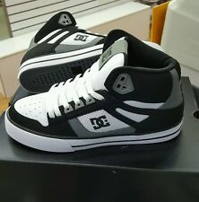 DC SHOES MEN'S SPARTAN HIGH WC  BLACK/GREY/WHITE (XKSW) US SZ 9.5