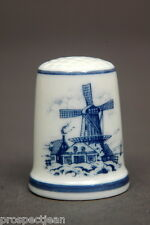 TCC Royal Mosa Dutch Windmill China Thimble B/27