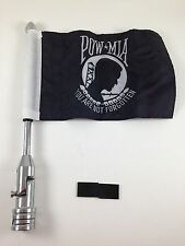 Motorcycle Flag Pole Mount and 6 x 9 Flag POW MIA Prison of War Harley Davidson