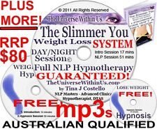 WEIGHT LOSS SYSTEM CLINICAL HYPNOTHERAPY MP3 's on CD HYPNOSIS WEIGHTLOSS NLP qu