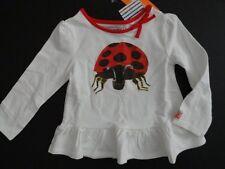 NWT Gymboree 4T The World of Eric Carle Ladybug Peplum Top Long Sleeve White