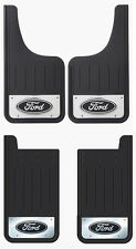 4 PK FRNT/RR FORD OVAL LOGO HEAVY DUTY STAINLESS STEEL MUD FLAPS FOR TRUCKS