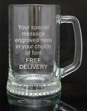 Engraved Half Pint Glass Tankard 294ml, Gift Boxed, Page Boy or Christening Gift