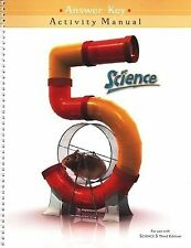 Science 5 Activity Manual Answer Key 2006 For use with Science 5 Third Edition)